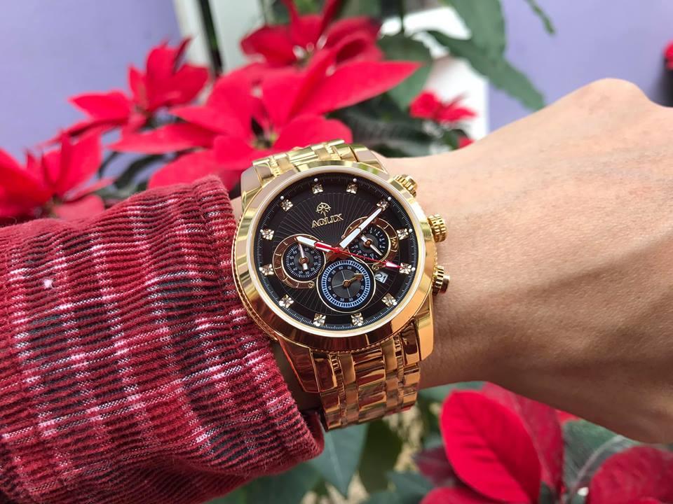 Đồng hồ nam chính hãng Aolix AL7049GK-D