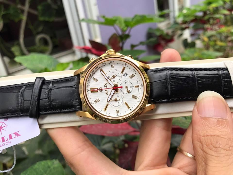 Đồng hồ nam chính hãng Aolix AL7050GK-GL-T