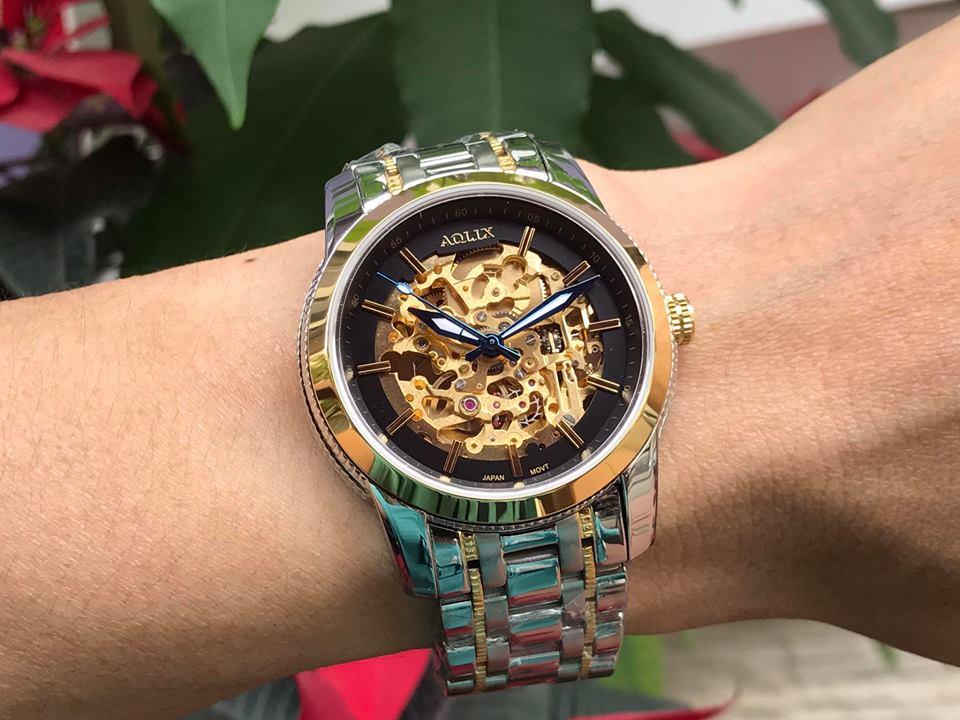 Đồng hồ nam tự động chính hãng aolix AL3021GSK-D