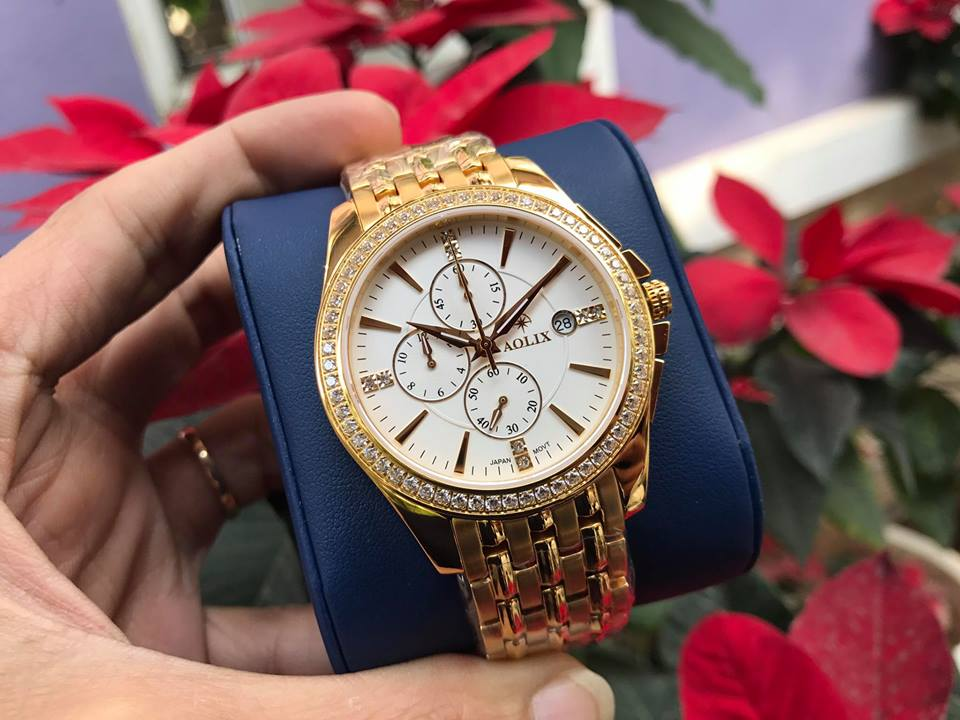 Đồng hồ nam chính hãng aolix AL7036GK-T
