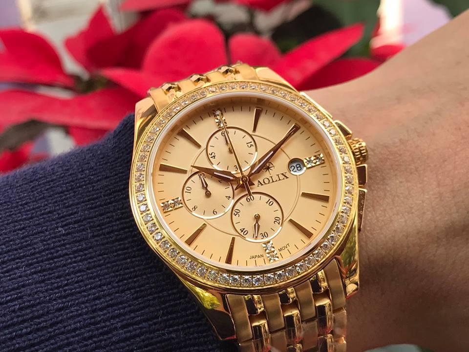 Đồng hồ nam chính hãng aolix AL7036GK-V