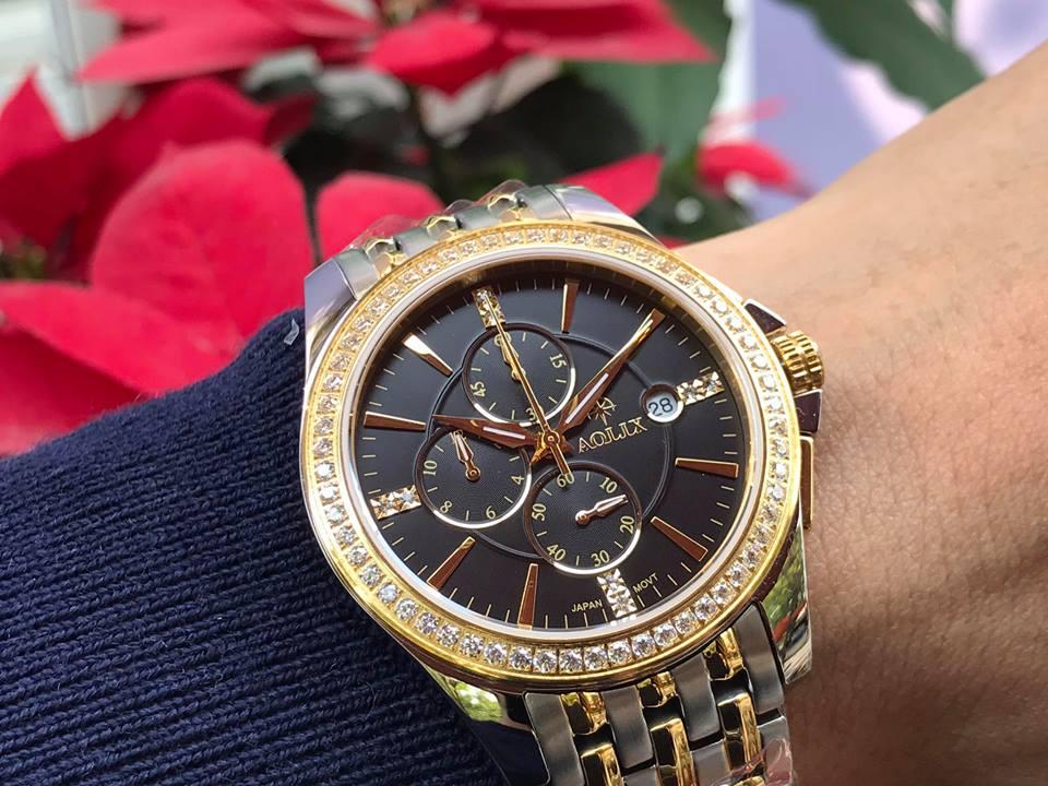 Đồng hồ nam chính hãng Aolix AL7036GSK-D