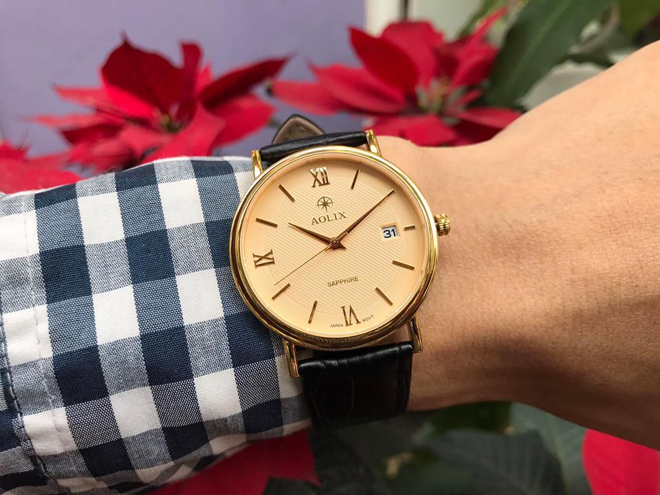 Đồng hồ nữ chính hãng Aolix AL9094GK-GL-V