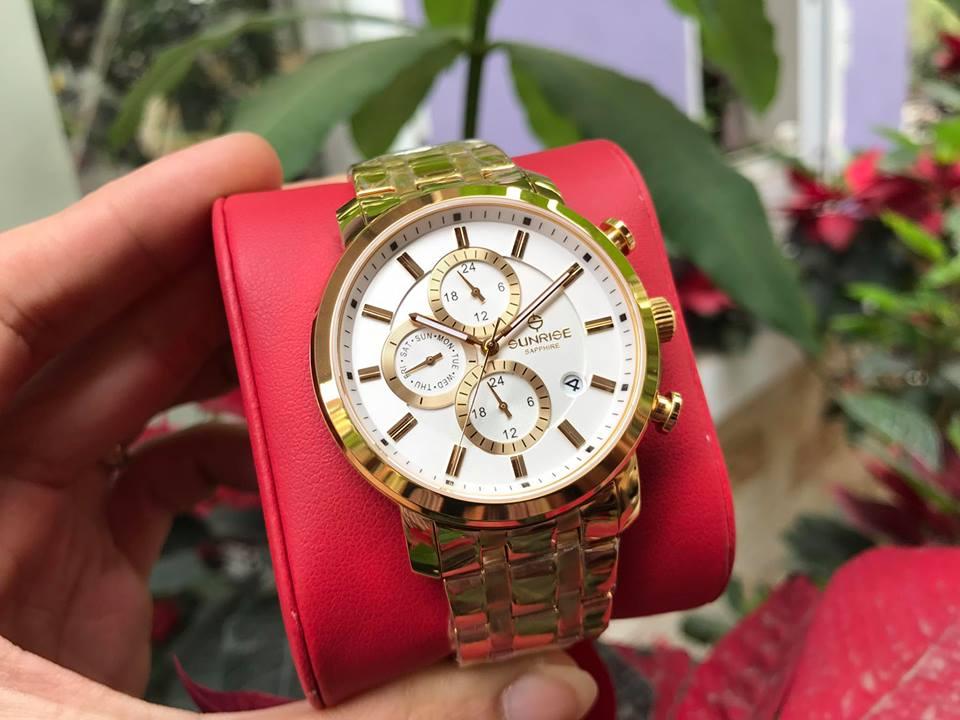 Đồng hồ nữ sunrise DM755SWAGSK-T