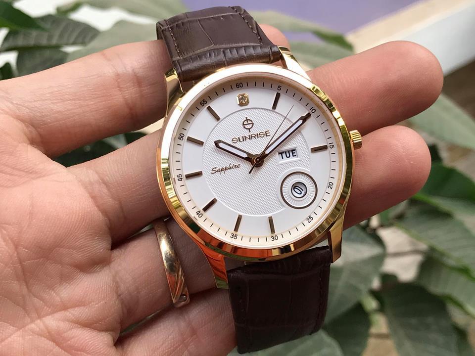Đồng hồ nam chính hãng Sunrise DM782PWAGK-GL-T
