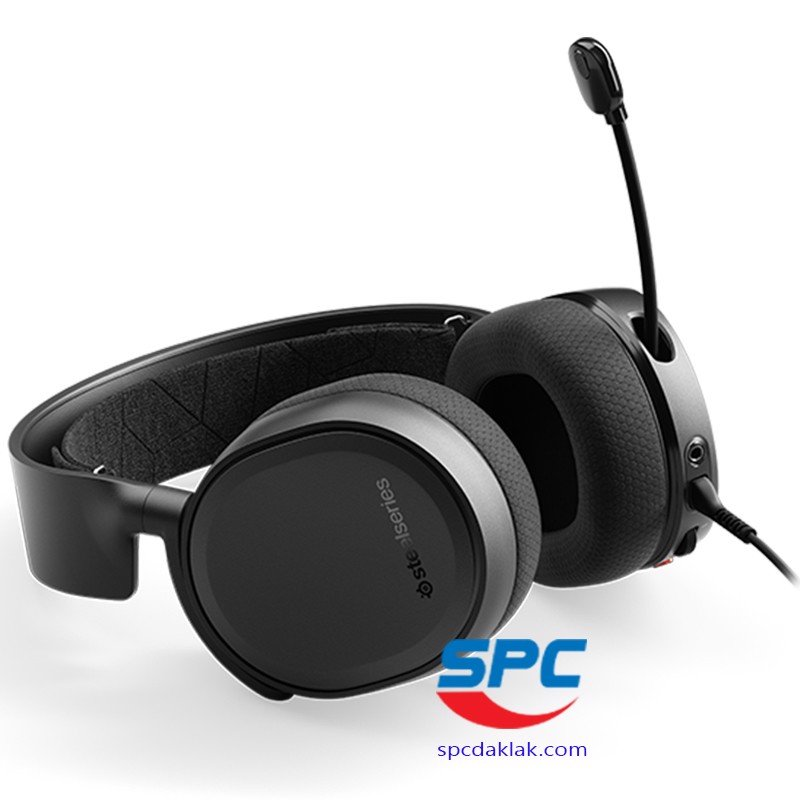 Tai nghe Steelseries Arctis 3 Black 2019 /7.1 Surround /61503