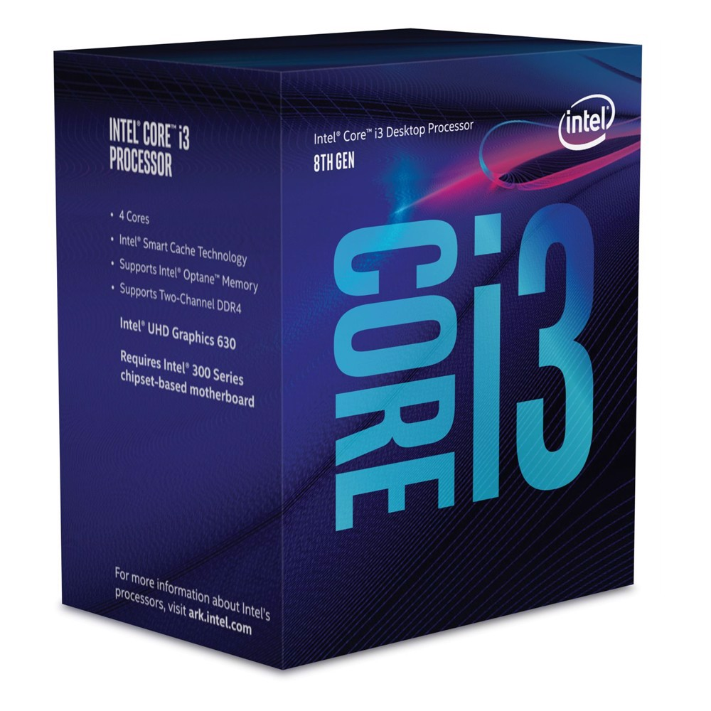 Vi sử lý CPU Intel Core i3-8100 Coffe Lake (3.6Ghz/LGA1151V2)