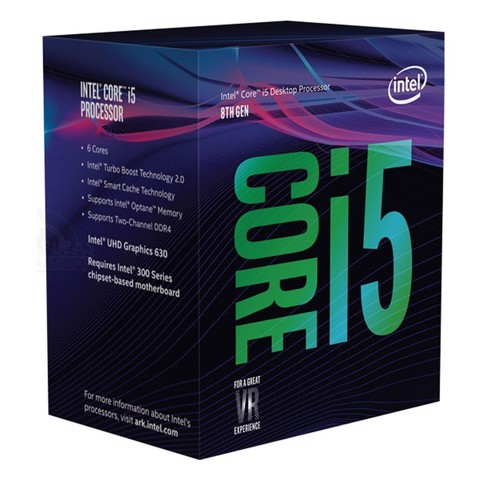 Vi sử lý CPU Intel Core i5-8400 Coffee Lake (2.8 turbo 4.0Ghz/1151V2)