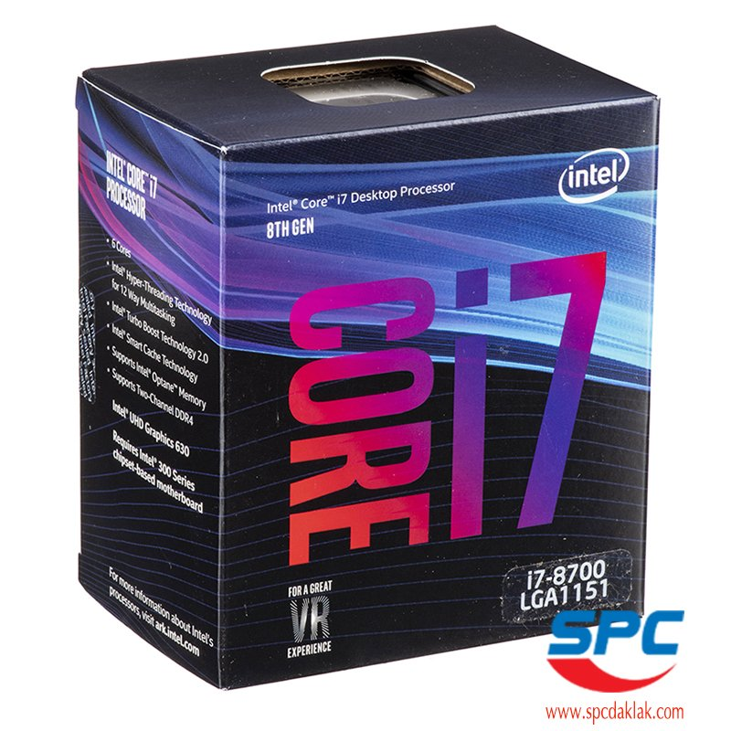 Vi sử lý Intel Core i7-8700 Coffee Lake (3.2-4.6Ghz/12M/6-12/LGA1151-V2)