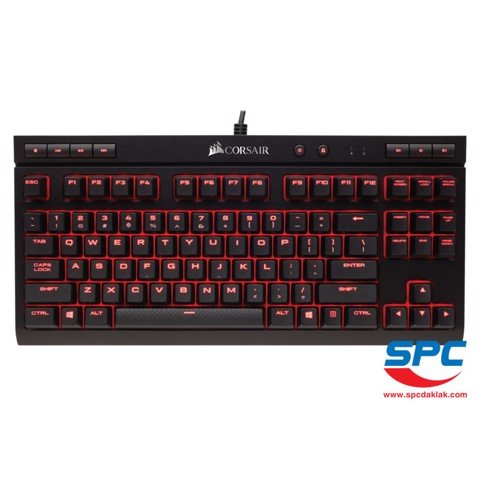 Bàn phím cơ Corsair K63 Led Red - Cherry MX Red