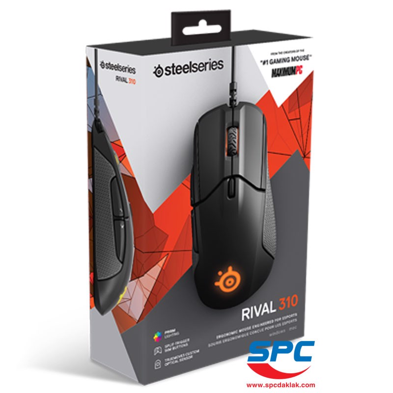 Chuột Steelseries Rival 310 /Black /RGB /62433