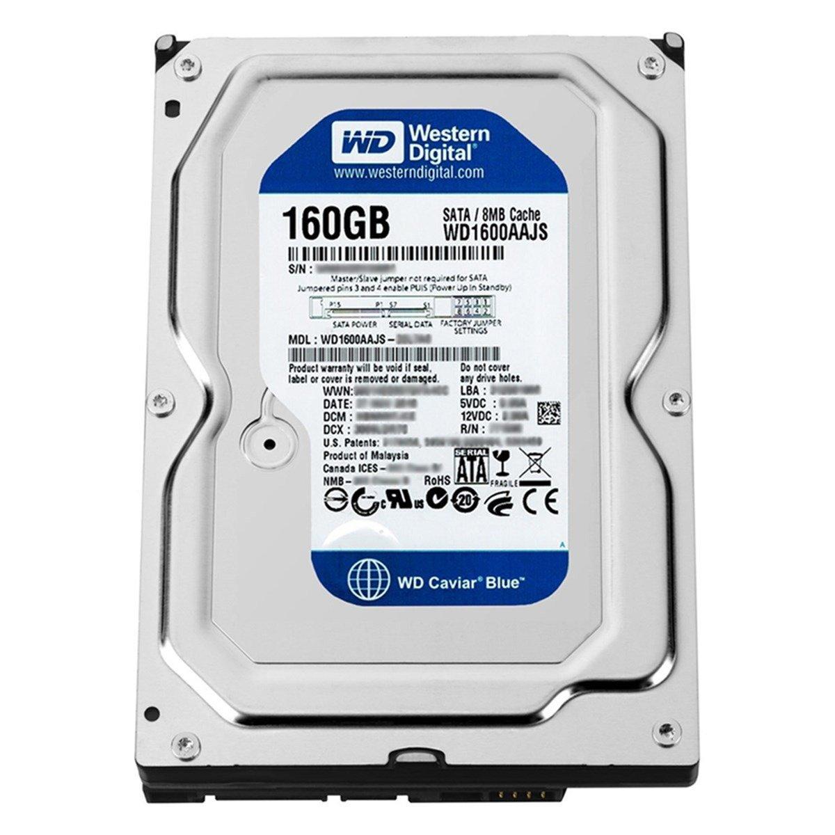 Ổ cứng HDD Western Blue 160GB Sata 3Gb/s