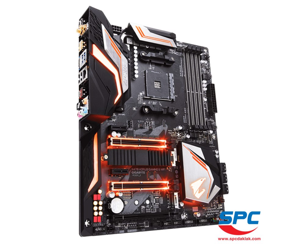 Bo mạch Gigabyte X470 Aorus Gaming 5 Wifi (AM4)