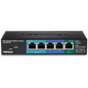 5-Port Gigabit PoE+ Powered EdgeSmart Switch with PoE Pass Through