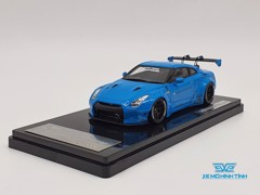 XE MÔ HÌNH NISSAN GTR R35 LB WORKS LIBERTY WALK 1:43 ONE MODEL (BABY BLUE)