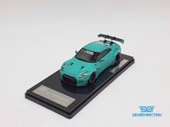 XE MÔ HÌNH NISSAN GTR R35 LB WORKS LIBERTY WALK 1:43 ONE MODEL (TIFANY BLUE)