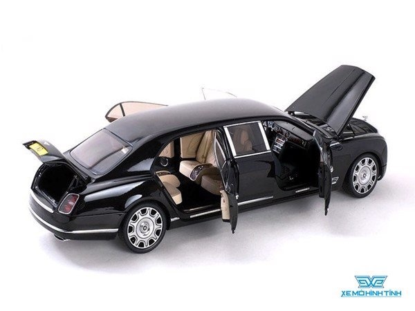 Xe Mô Hình Bentley Mulsanne Grand Limousine By Mulliner Onyx 1:18 Almost Real ( Đen )