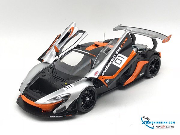 Xe Mô Hình McLaren P1 GTR Pebble Beach California Design Concept #01 1:18 Almost Real ( Bạc )
