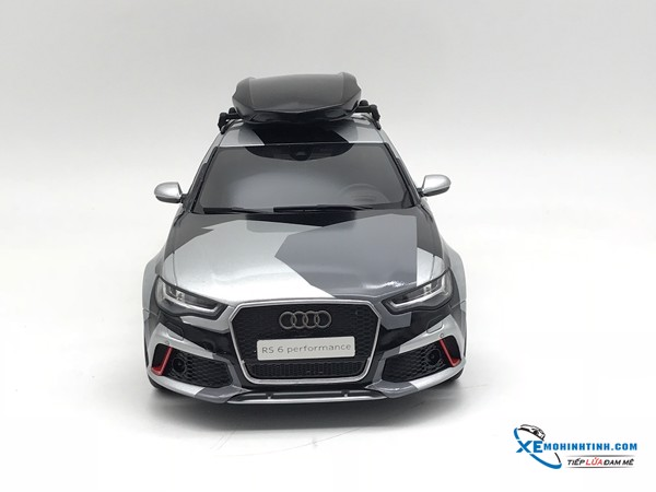 Xe Mô Hình Audi RS6 Camouflage Xffmw Exclusive Custom Speacial Edition 1:18 GTSpirit ( Bạc camo )
