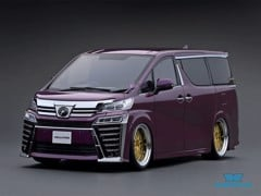 Xe Mô Hình Toyota Vellfire (H30W) ZG 1:18 Ignition Model ( Purple Metallic )