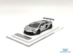 Xe Mô Hình LB-Performance Lamborghini Aventador Limited 999pcs 1:64 Liberty Walks ( Chrome )