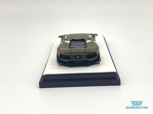 Xe Mô Hình Lamborghini Aventador LB 2.0 Limited 999pcs Timothy Pierre 1:64 ( Fighter Green )