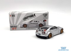 Xe Mô Hình LB*Works Nissan GT-R R35 Type 1 , Rear Wing ver 1 , Magic Pearl Taiwan Exclusive 1:64 MiniGT ( Trắng )