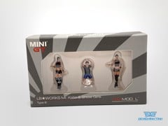 Figure Mr.Kato & Show Girls Type B 1:64 MiniGT ( 3 Figure )