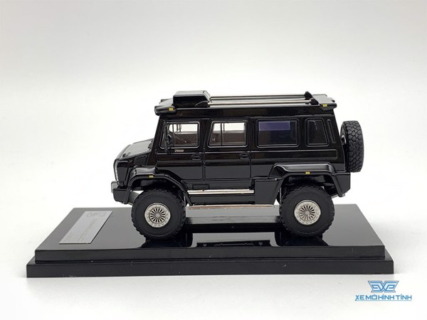 Xe Mô Hình Mercedes-Benz Unimog U5000 Great Lighting Models 1:64 ( Đen )