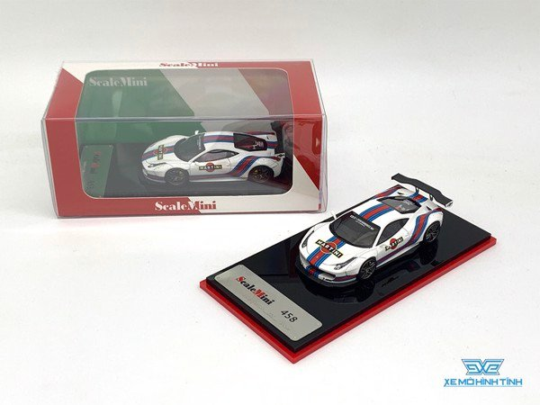 Xe Mô Hình Ferrari 458 Martini Racing Limited 299pcs 1:64 Scale Mini ( Martini )