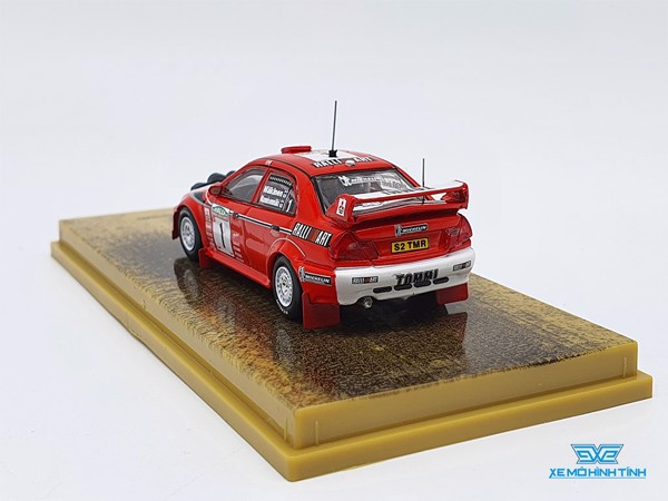 Xe Mô Hình Mitsubishi Lancer Evolution VI New Zealand Rally 1999 Winner 1:64 Tarmac Works ( Đỏ )
