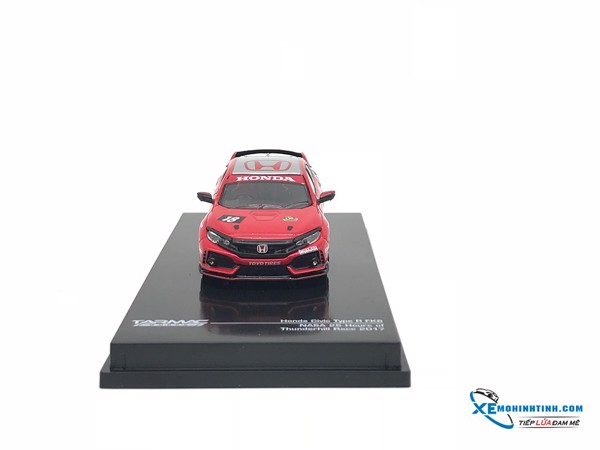 Xe Mô Hình Honda Civic Type R FK8 NASA 25 Hours of Thunderhill Race 2017 1:64 Tarmac Works ( Đỏ )