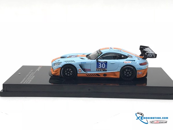 Mercedes-Benz AMG GT3 Paul Ricard 24h 2016 2nd Place #30 Tarmac Works 1:64 (Xanh)