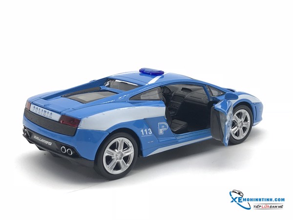 Lamborghini Gallardo LP560-4 Police WELLY 1:36 (Xanh)