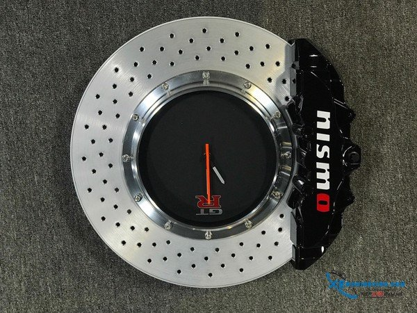 Racing brake disc clock Autoart 1:1 ( Đen , Nhôm )