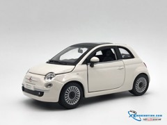 New Fiat 500 Nuova Weiss Coupe Bburago 1:24 (Trắng)