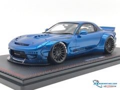 Mazda Rocket Bunny RX-7 Iginition Model 1:18 (Xanh)