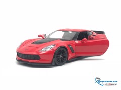 Chevrolet Corvette Z06 2017 1:24 Welly ( Đỏ Tươi )