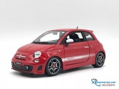 New Fiat 500 Abarth Bburago 1:18 (Đỏ)