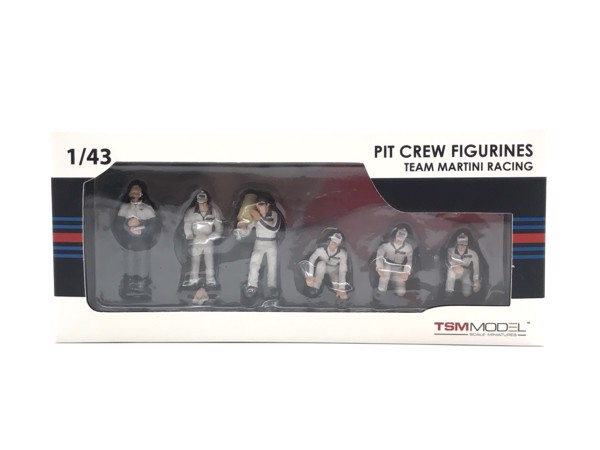 PIT crew figurines martin racing (set of 6)  TSM 1:43 (Trắng)