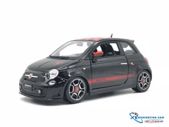 New Fiat 500 Abarth Bburago 1:18 (Đen)