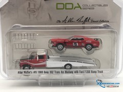 Ford F-350 Ramp Truck With #9 1969 Trans Am Mustang GreenLight 1:64 (Đỏ)