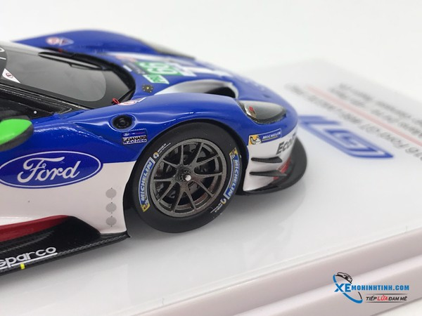 Ford #66 2016 24HR. OF LE MANS LMGTE PRO 4TH PLACE FORD CHIP GANASSI TEAM UK TSM 1:43 (Xanh)