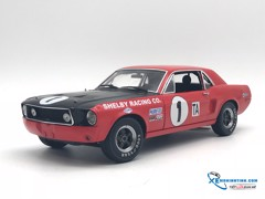 Ford  Shelby Mustang #1 Jerry Titus 1968 Daytona 24H Trans Champion  ACME 1:18 (Đỏ)