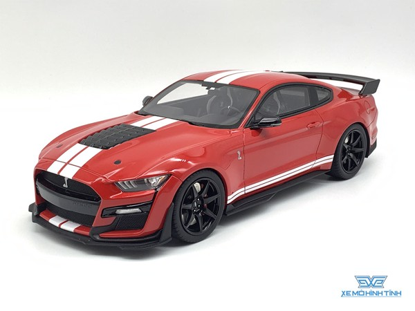 Xe Mô Hình Ford Mustang Shelby GT500 2020 Race Red Car Model Collection Car 1:18 GTSpirit ( Đỏ )