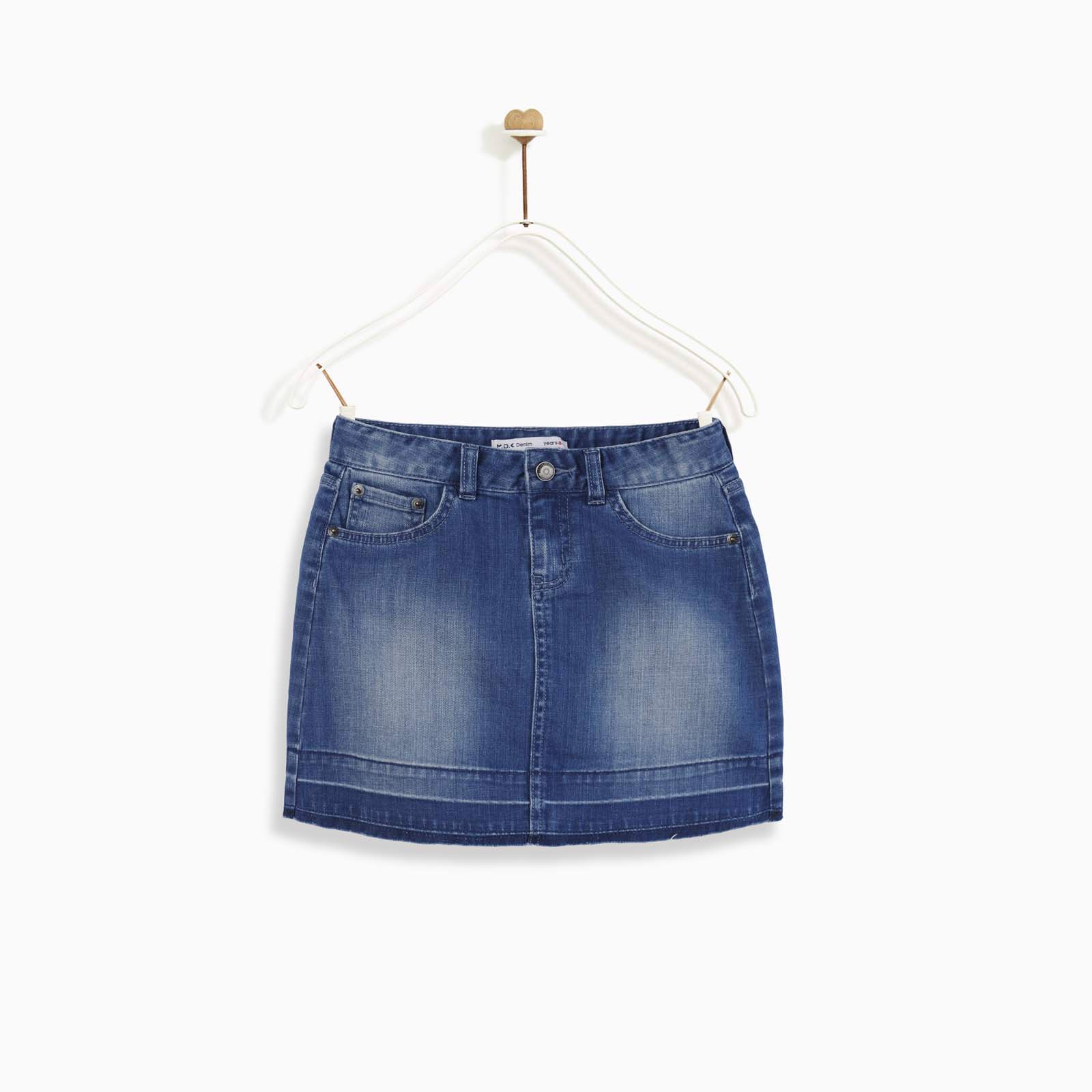 Chân váy Pull-on denim release hem