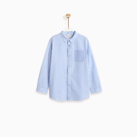 Áo bé trai-Little Blue Plaid Summer-CBSUM19T09Z