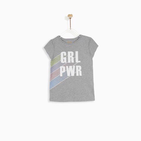 Áo bé gái Soft Cotton Rainbow girl Power  - AGSPR19T02C-D