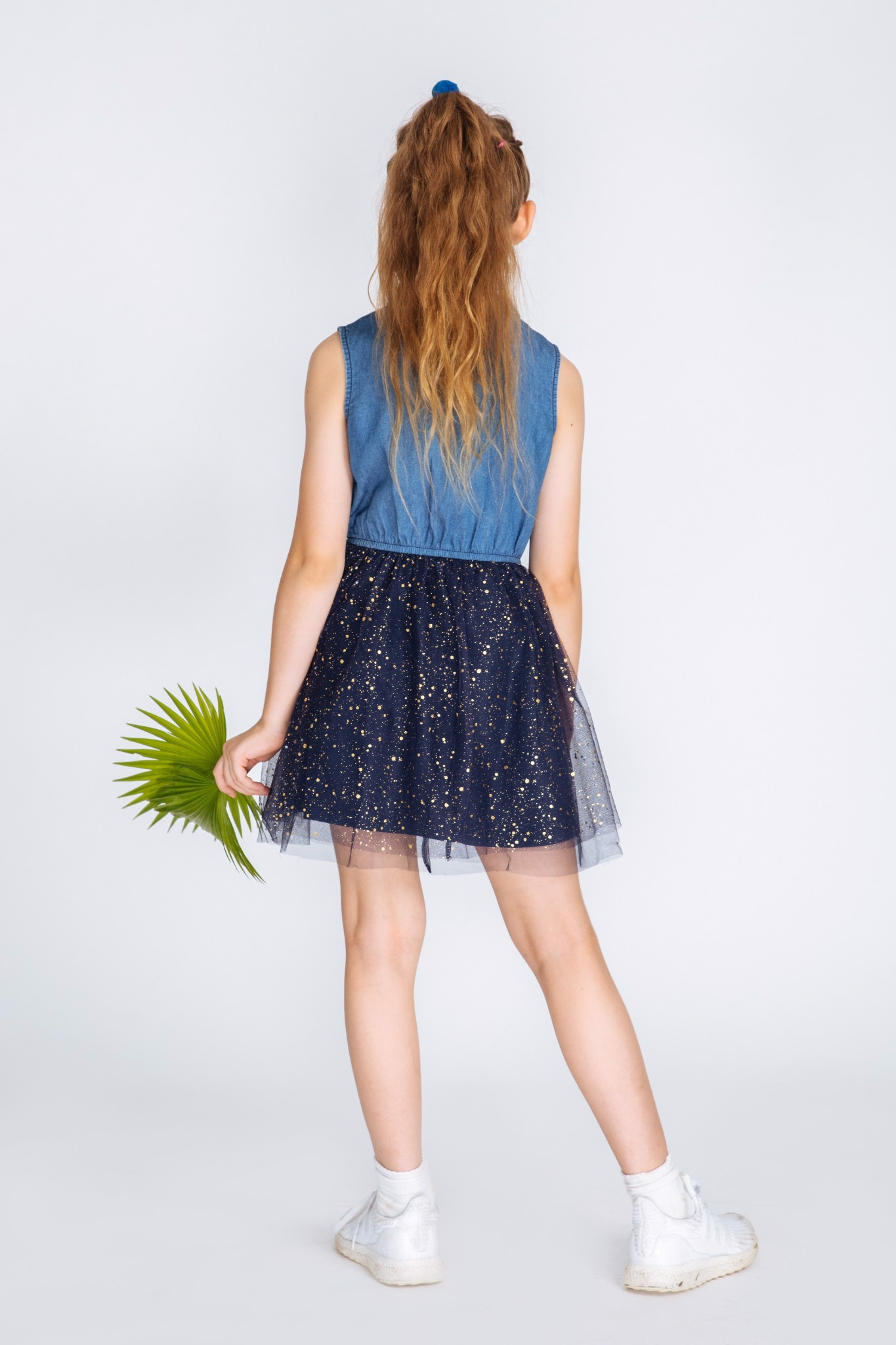 Áo Đầm Bé Gái Denim sleeveless dress