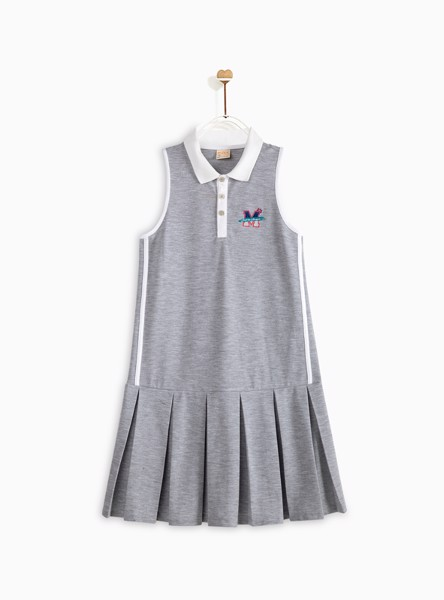Đầm Bé Gái M.D.K Emboridered sleeveless polo dress